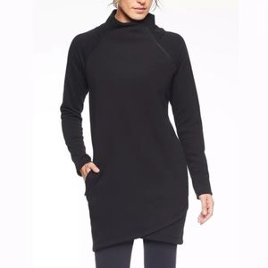 Athleta Cozy Karma Asym Sweatshirt Dress